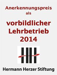 Anerkennungspreis Hermann Herzer Stiftung
